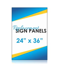 """Custom Printed 24"""" x 36"""" Replacement Sign Faces"""