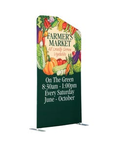 4' x 8' Angle Top Straight Stretch Fabric Zip Stand