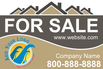Real Estate For Sale (18x12) Single Sided Yard Sign